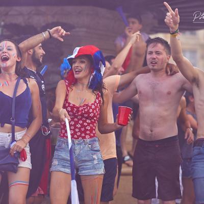 Supporters des Bleus à Bordeaux