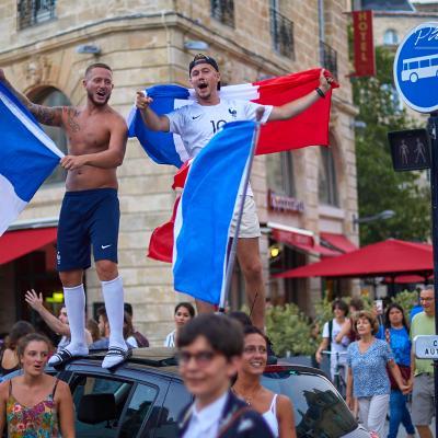 Place Gambetta supporter des Bleus