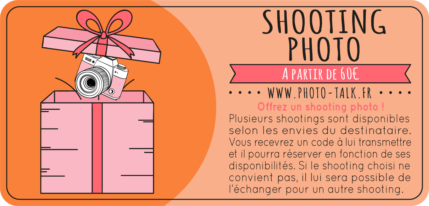 Offrir un shooting photo