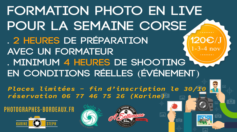 Formation photo en live